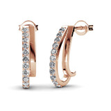 Earrings w/Swarovski  Crystals -Rose Gold/Clear