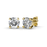 Stud Earrings Embellished with Crystals from Swarovski -G