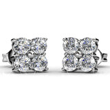 Quad Stud Earrings Embellished with Crystals from Swarovski