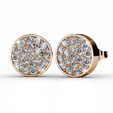 Pave Earrings Ft Swarovski Crystals -RG