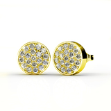 Pave Earrings Embellished with Crystals from Swarovski -G