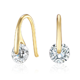 Earrings Ft Swarovski Elements -Gold