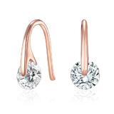 Earrings Ft Swarovski Elements -Rose Gold