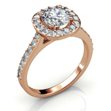 Bling Ring w/Swarovski  Crystals -Rose Gold/Clear