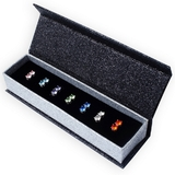7 Pair Stud Earring Set Ft Swarovski Crystals