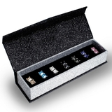 Deluxe 7 day Stud Earring Set Embellished with Crystals from Swarovski