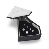 Boxed Earring 3 Stud Set Embellished with Crystals from Swarovski