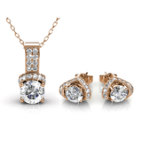Matching Pendant and Earrings Set Embellished with Crystals from Swarovski -RG
