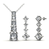 Matching Crystal Tower Set Embellished with Crystals from Swarovski