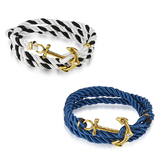 2pc Nautical Wrap Bracelet Set Ft Swarovski Crystals