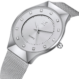 Layla Watch Ft Swarovski Crystals -WHT