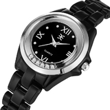 Palatial Watch Ft Swarovski Crystals -BLK