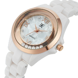 Palatial Watch Made with Swarovski Crystals - WHT