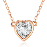 Hampstead Heart Pendant Necklace Embellished with Crystals from Swarovski -RG
