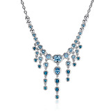 Evening Necklace Embellished with Crystals from Swarovski