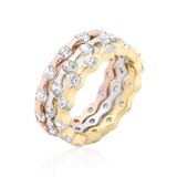 Triple Tone Stackable Ring