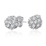 Encrusted Stud Earrings Embellished with Crystals from Swarovski