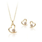 Matching Heart Set Embellished with Crystals from Swarovski