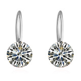 Classic Drop Earrings - White Gold