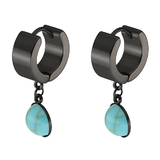 Drop Earrings - Jet Black