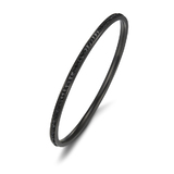 Jet Black Bangle with AAA-rated CZ