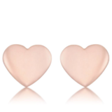 Love Rose Gold Heart Stud Earrings