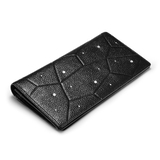 Genuine Leather Wallet Ft Swarovski Crystals -Large