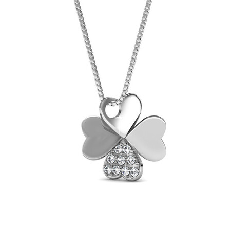 Clover Pendant Necklace Embellished with Crystals from Swarovski