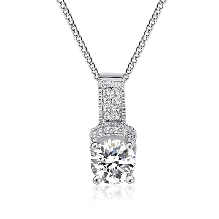 Deluxe Pendant necklace Embellished with Crystals from Swarovski