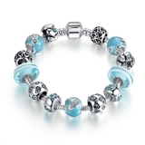 Pandora Inspired Full Set Beaded Charm Bracelet