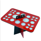 Makeup Brush Rack Storage Holder Stand & Dryer -XL Red