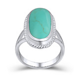 Solid 925 Sterling Silver Ring Turquoise