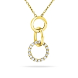 Triple Hoop Pendant and Chain Set - Gold