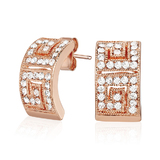 Elegance Earrings Embellished with Crystals from Swarovski -Rose Gold