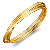 Interlinked Triple Bangle - Gold Plated