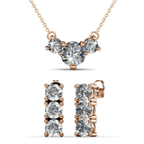 2pc Set w/Swarovski¨ Crystals - Rose Gold / Clear