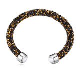 Raw Crystal Bangle Embellished with Crystals from Swarovski