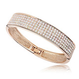 Pave Bangle Embellished with Crystals from Swarovski -RG
