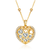 Heart Pendant Necklace Embellished with Crystals from Swarovski