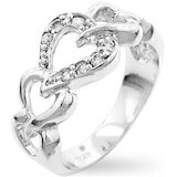 925 Silver Interlinking Heart Ring