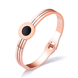 Bangle in 2 Tone - Rose Gold / Black