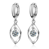 Drop Earrings - White Gold