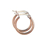 Hoop Earrings 15mm - Rose Gold