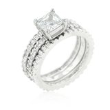 3in1 Triple Ring Set in White Gold